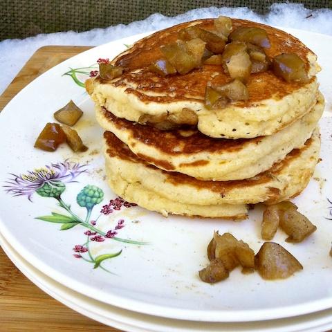 Cardamom Pear Pancakes