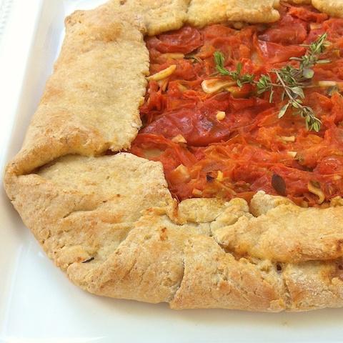 Roasted Tomato Crostata for #tomatolove