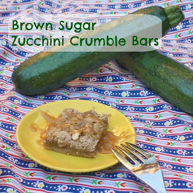 Brown Sugar Zucchini Crumble Bars | TeaspoonofSpice.com