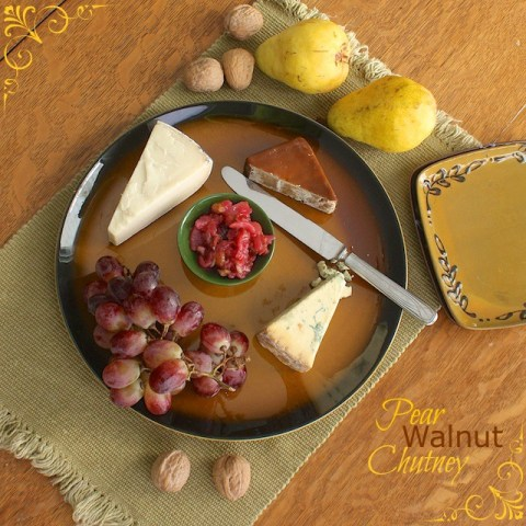 Pear Walnut Chutney | Teaspoonofspice.com