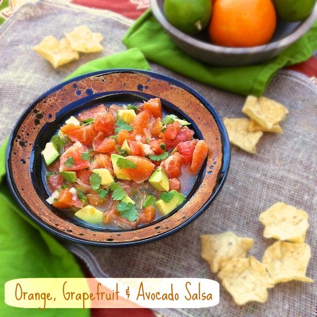 Orange, Grapefruit & Avocado Salsa | Teaspoonofspice.com