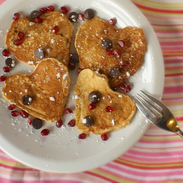 Heart Shaped Perfect Pancakes | Teaspoonofspice.com