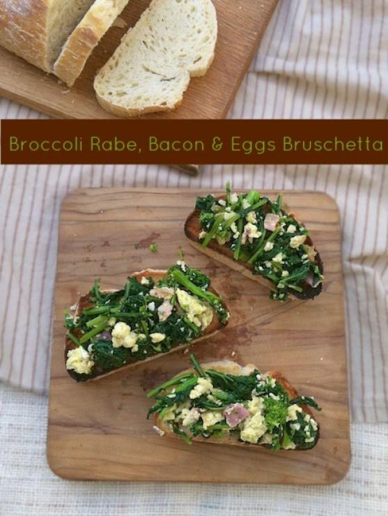 Broccoli Rabe, Bacon & Eggs Bruschetta   Teaspoonofspice.com
