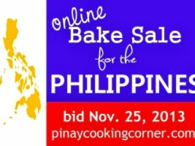 Online Bake Sale for the Philippines
