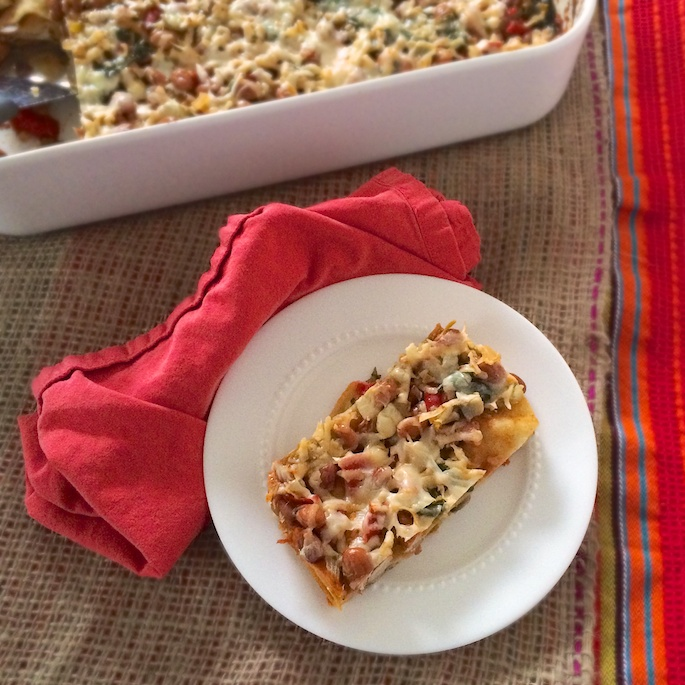 Roasted Vegetable Enchilada Bake | www.teaspooncomm.com/teaspoonofspice/