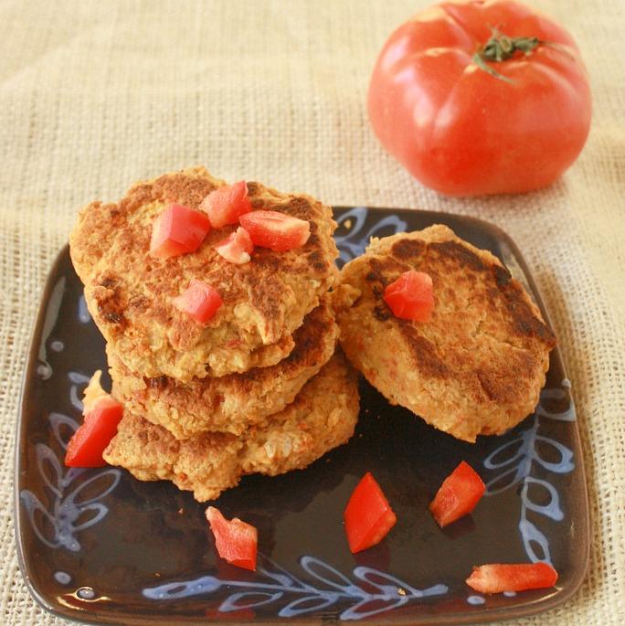 Sundried Tomato Hummus Cakes