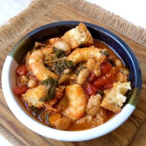 Smoky Shrimp Ribollita for #Soupapalooza