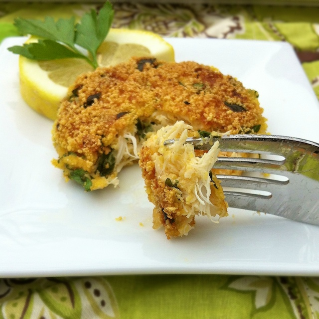 Gluten Free Crab Cakes + Cookbook Giveaway - Teaspoon of Spice