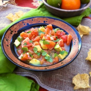 Orange, Grapefruit & Avocado Salsa + Super Bowl Party Dips & Snacks Roundup