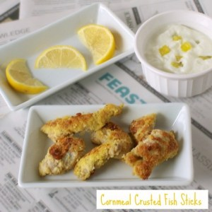 Cornmeal Crusted Fish Sticks