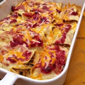 Thankschiladas (Thanksgiving Leftover Turkey Enchiladas)