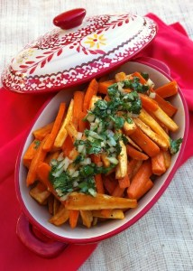 Roasted Carrots and Parsnips with Cilantro Salsa