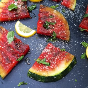 Grilled Watermelon Salad + Grilled Fruit Recipe Round-Up