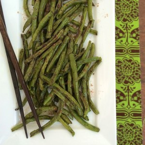 Chinese 5 Spice Roasted Green Beans<BR />  + Green Bean Recipe Roundup