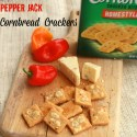 Pepper Jack Cornmeal Crackers | TeaspoonOfSpice.com