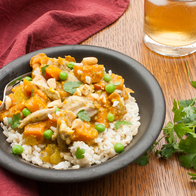 Chicken Curry with Sweet Potatoes and Peas | @tspcurry