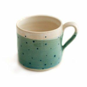 Turquoise Polka Dot Espresso Mug