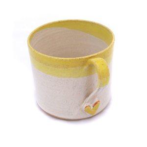 Yellow Heart Espresso Mug