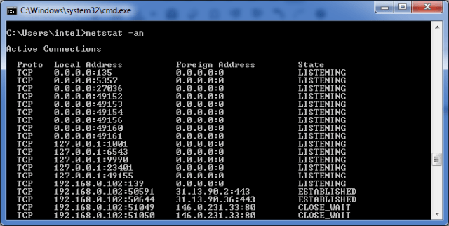 Important command prompt codes