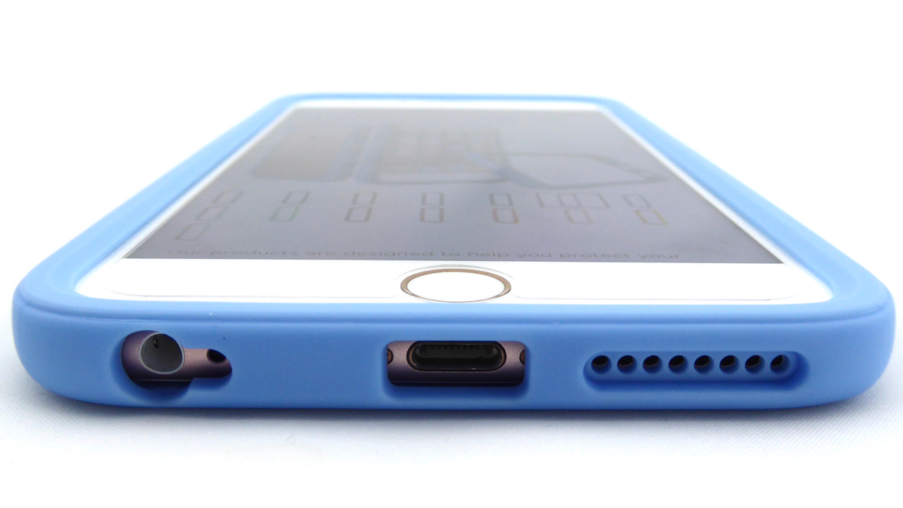 RhinoShield CrashGuard for iPhone 6s Plus in Baby Blue- Port Opening View