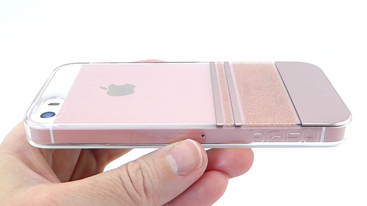 Incipio Design Series Wesley Stripes in Rose Gold for iPhone SE- Back ...