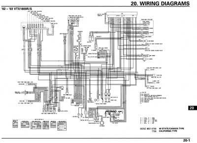 2004 honda vtx 1800 schema cablage