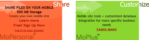 mobilemo1 20 sites to create/optimize website for mobile phone users