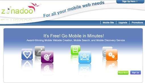 zinadoo1 20 sites to create/optimize website for mobile phone users