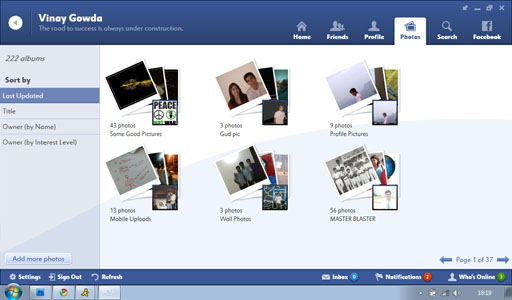 Fishbowl Friends Photos11 Fishbowl : Facebook Desktop Application by Microsoft
