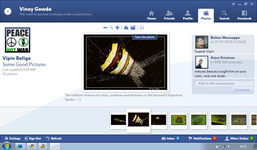Fishbowl Photo Slideshow12 Fishbowl : Facebook Desktop Application by Microsoft
