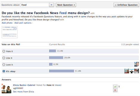facebook questions like comment1 8 Best features of Facebook Questions