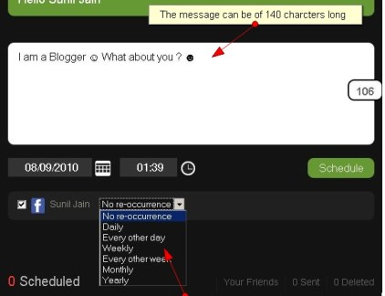 LaterBro Scheduler1 10 ways to schedule Facebook status updates