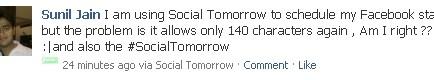 Socialtomorrow scheduled1 10 ways to schedule Facebook status updates