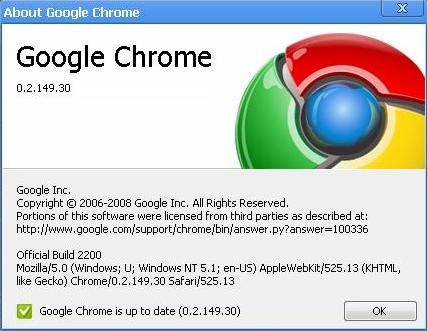 Google Chrome 0.2.14931 Google Chrome Turns 2 : A Brief Flashback