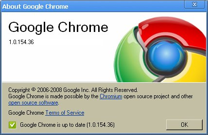 Google Chrome 1.0.1561 Google Chrome Turns 2 : A Brief Flashback