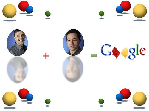 Google Larry page sergey brin11 @Google Turns 12 Years Old Today!