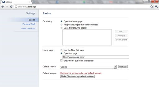 chrome 7 ul tabs settings image1 Google Instant Search Integrated in Chrome 7!