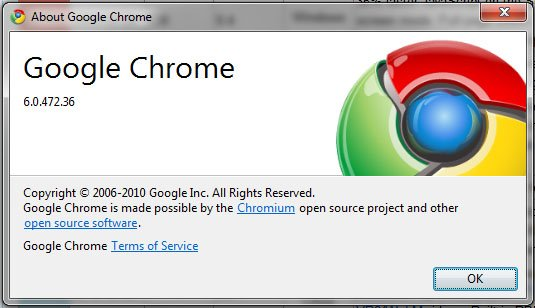 google chrome 6.0.4721 Google Chrome Turns 2 : A Brief Flashback