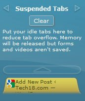 toomanytabs google chrome suspended tabs image1 Tab Candy for Google Chrome   TooManyTabs