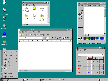 microsoft windows 95 desktop image1 Microsoft Windows Completes 25 Years Today!