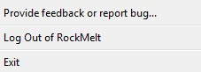 rockmelt browser logout option1 30+ Rocking Features of Rockmelt Browser