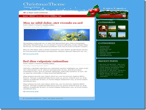 3 christmasdays WordPress Theme thumb 40+ Best Free Christmas WordPress Themes [Updated]