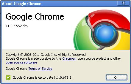 google chrome version 11 image Chrome Meets Opera In Version   Dev Channel Updated To Chrome 11