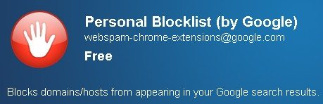 personal blocklist google chrome extension Block Domains In Google Search Using Chrome Extension!