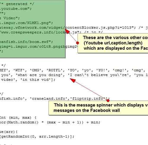 facebook youtube spam javascript Alert : Facebook YouTube Spam