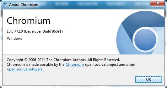 google chrome 13 86091 build