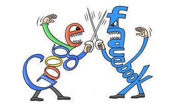 facebook vs google Facebook vs Google : The War Is Still On [Infographic]