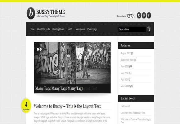 6 html5 wordpress theme 40+ Best Free HTML5 WordPress Themes & Frameworks
