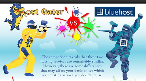 Hostgator vs Bluehost Infographic main HostGator vs BlueHost   The Hosting Shootout [Infographic]