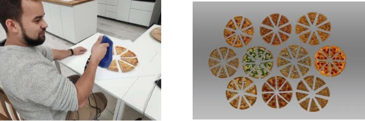pizza 3D scanne Artec